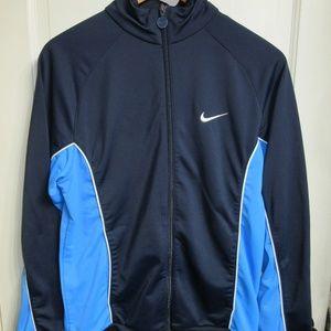 Boys Nike Lightweight Zip Up Jacket Blue Size XL